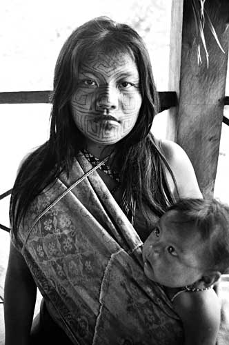 Kaxinawa Mother and Child