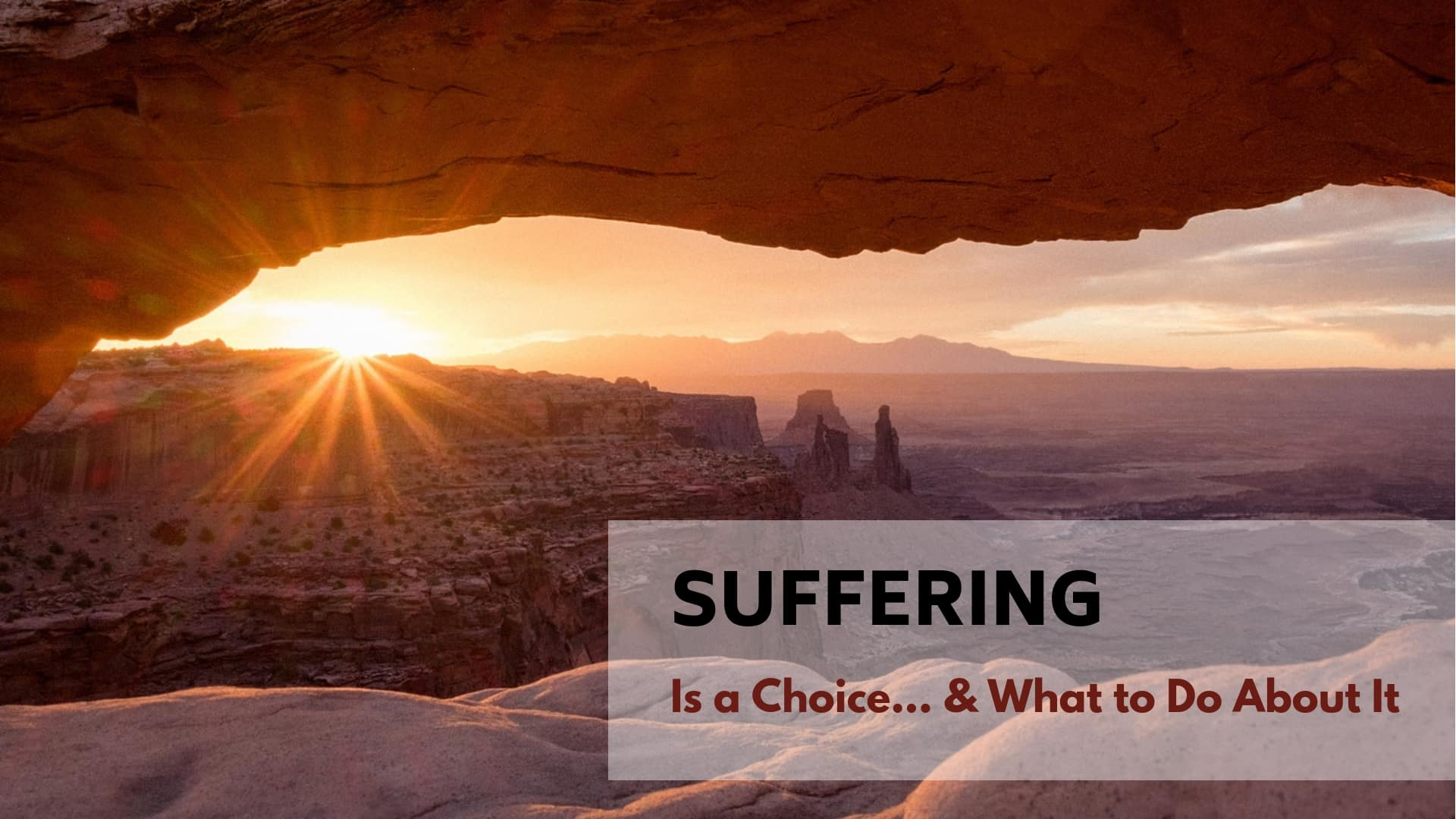 Suffering is a Choice. Turn it Into Soul-Level Healing Instead